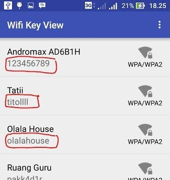 cara melihat password wifi di hp